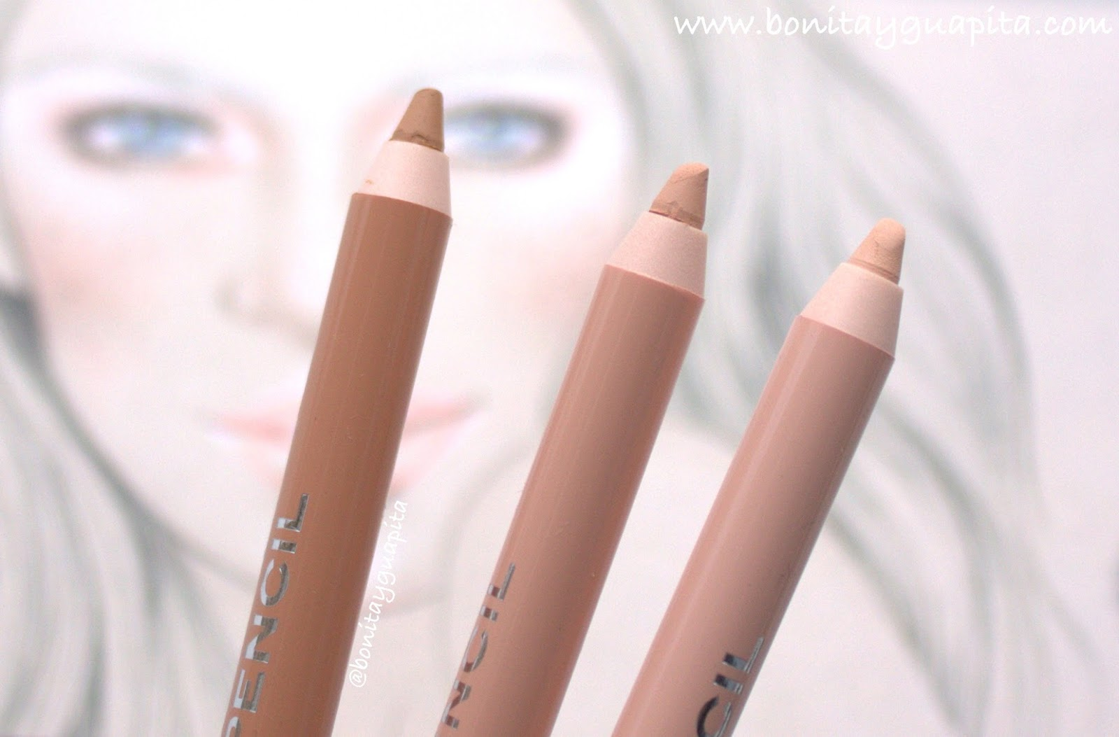 Nude Powder: NABLA Magic Pencils • Review & Swatches