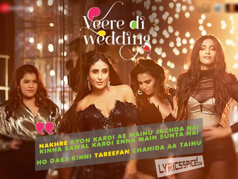 tareefan lyrics veere di wedding