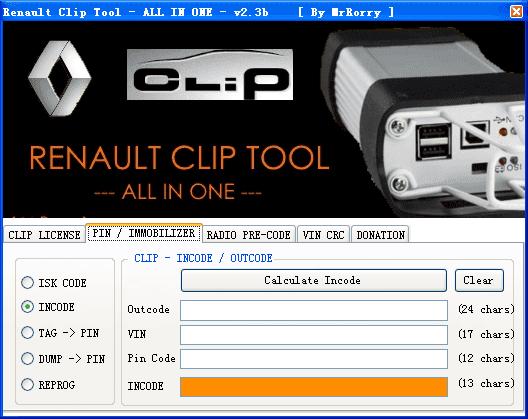 How to read Renault pin code, add new key, program ECU