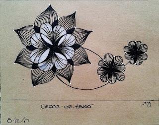 Training Tile for Pattern: Cross-Ur-Heart with Cross-Ur-Heart babies