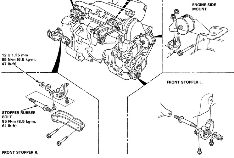 Honda CIVIC EG6: AVID Engine Torque Mount