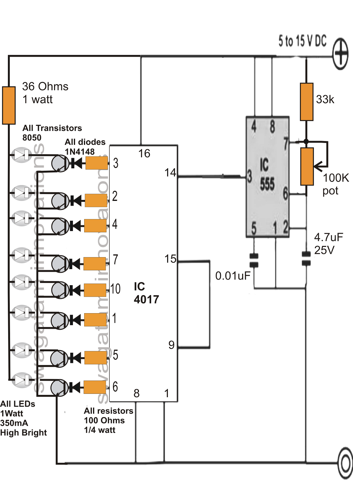 make this drl day time running light circuit for your car