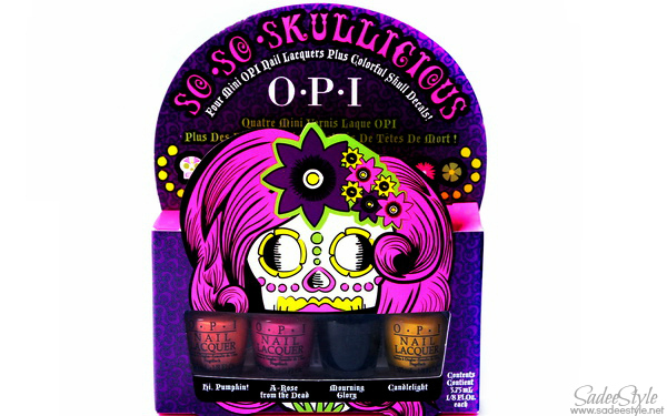 OPI So So Skullicious Mini Nail Lacquers