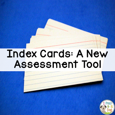 Don't throw away those index cards. Use them to help students self-assess after lessons.