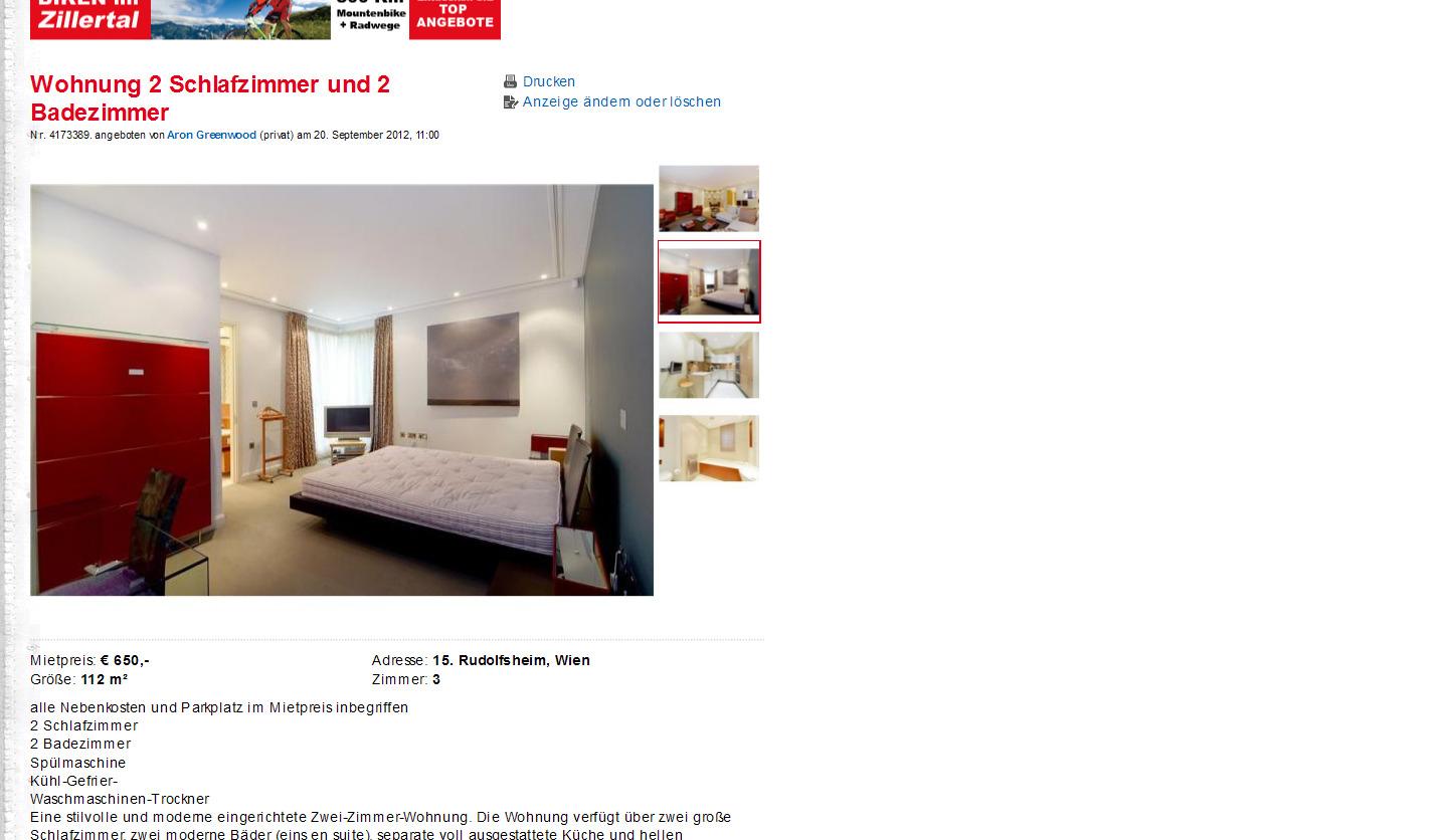 112 M2 Reinprechtsdorfer St Vornehm 2 Schlafzimmer 550 EUR Mietpreis: U20ac  650,  Adresse: 15. Rudolfsheim, Wien