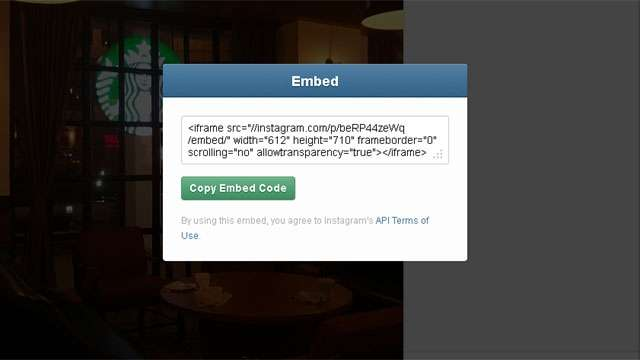 Embedding feature comes to the Desktop Version on Instagram, embed your photos/videos just like YouTube on your website/blog