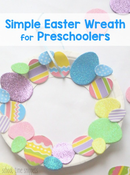 preschool and toddler Easter wreath craft