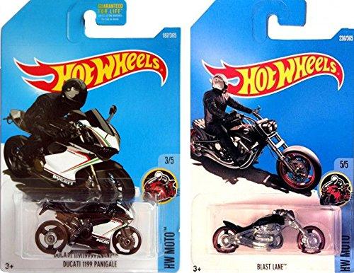 Hot Wheels Moto Pack 2017 187 Ducati 1199 Panigale Hot Wheels 2017 Blast Lane Black 236 Motorcycle 2 Pack In Protective Cases 2019 Hot Wheels
