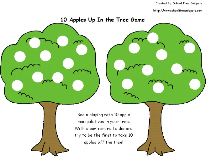 Ten Apples Up on Top -- Math Game