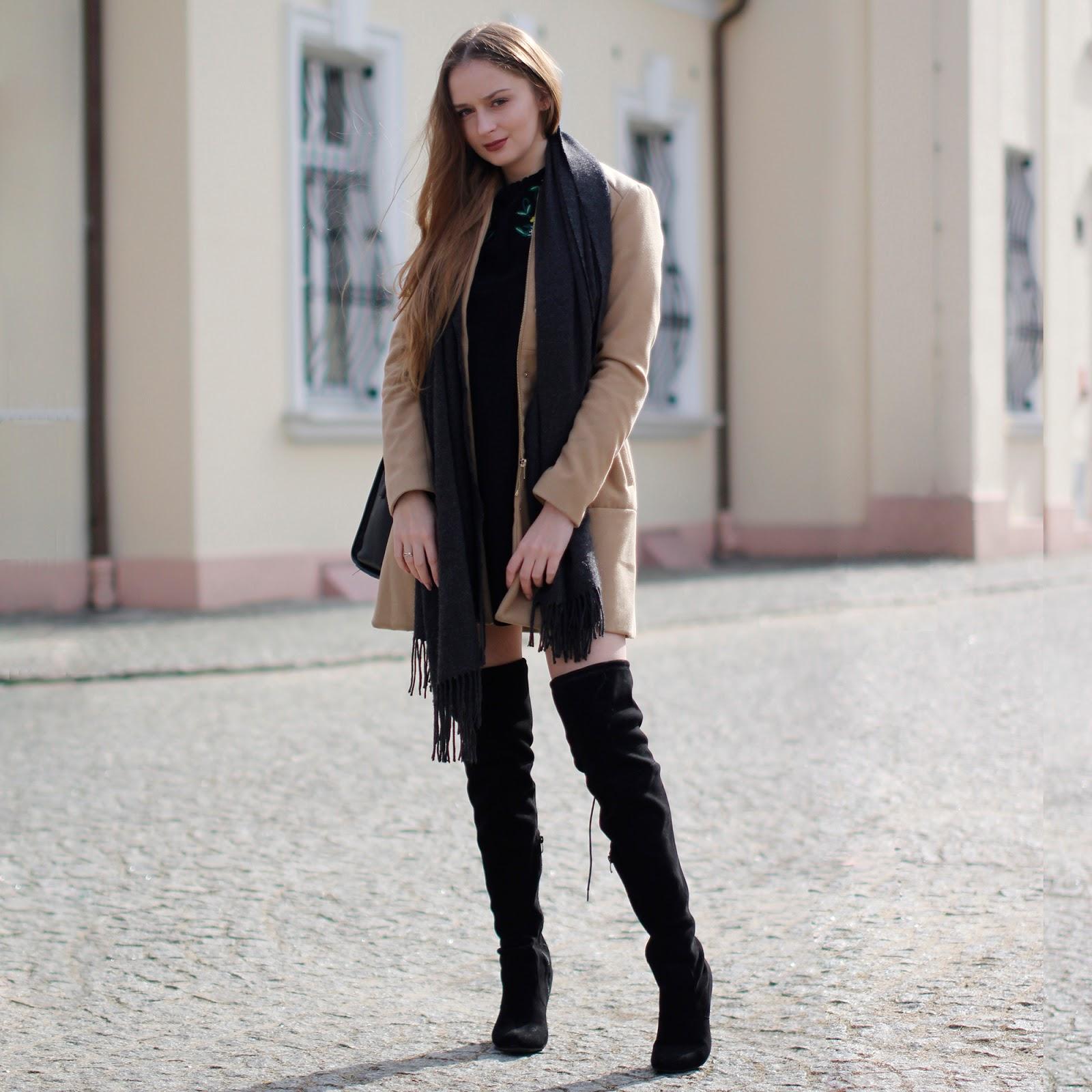 BLACK FLORAL DRESS #OUTFIT