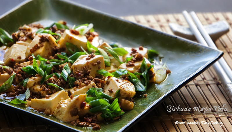 Easy and Spicy recipe for Sichuan Mapo Tofu (Má Pó Dòufu)