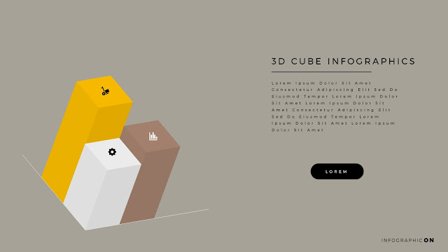 3D CUBE Infographic Elements for PowerPoint Slide 10