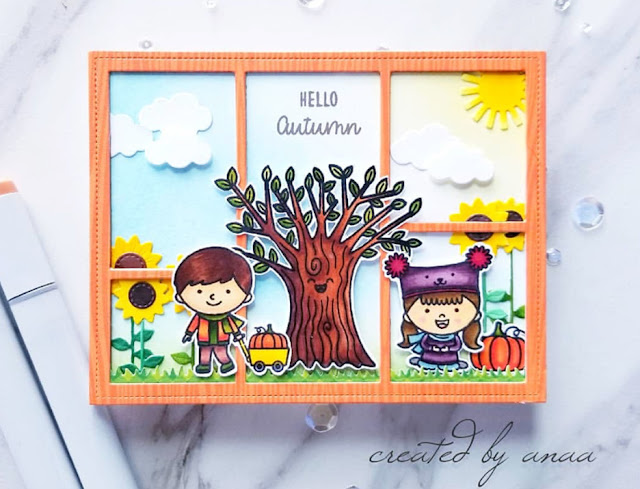 Sunny Studio Stamps: Fall Kiddos Happy Harvest Customer Card by Ana A
