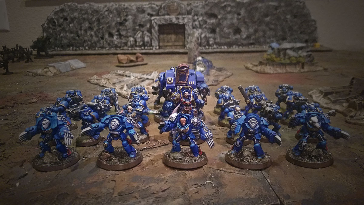 Space Marines Terminators Ultramarines