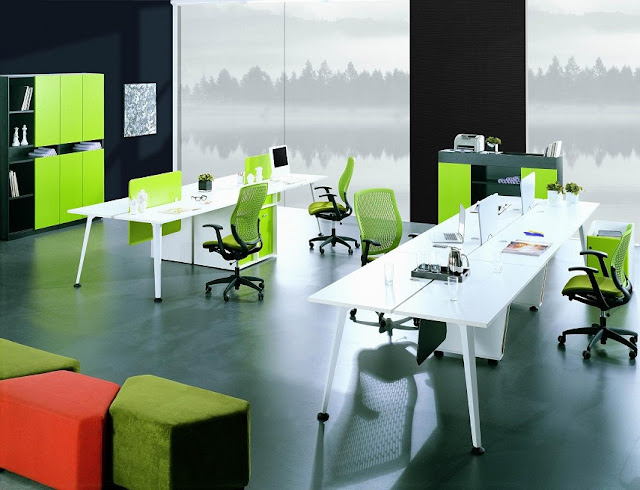 best green white modern office furniture pictures with storage ideas