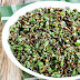 Lebanese Lentil Salad with Garlic and Herbs