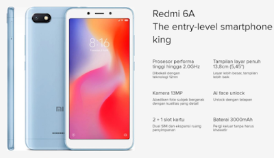 REVIEW ! Spesifikasi dan Harga Xiaomi Redmi 6A