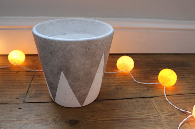 Concrete Effect Plant Pot