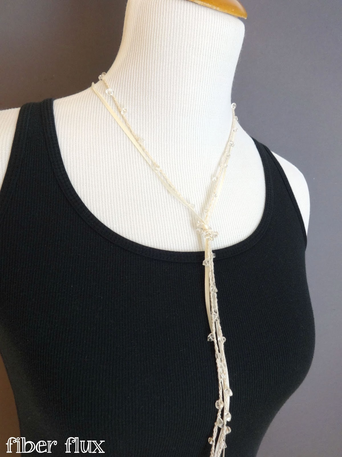 Fiber Flux: Free Crochet Pattern...Shimmering Lariat Necklace!