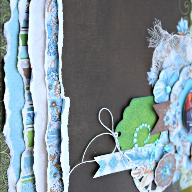 BoBunny Penelope Masculine Layout designed by Rhonda Van Ginkel