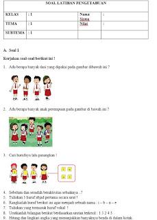 oal Kurikulum 2013 Revisi Kelas 1 Semester 1 Plus Kunci Jawaban