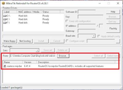 setting folder netinstall
