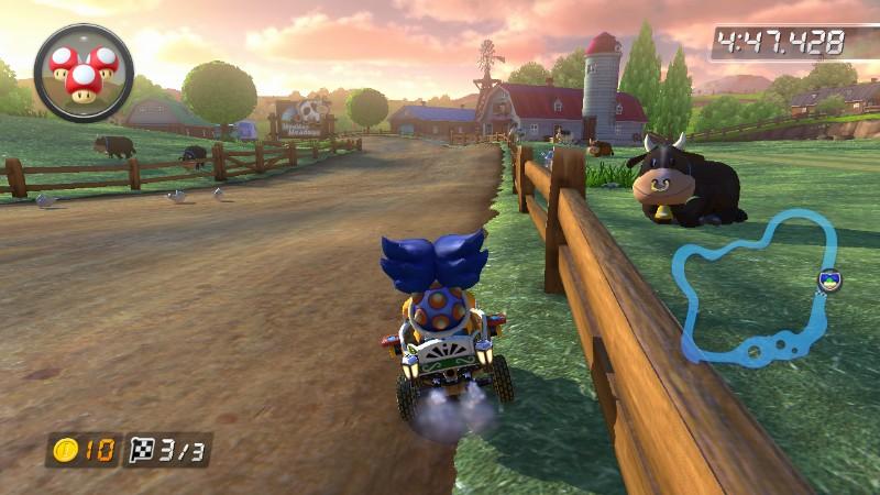 Mario Kart 8 Moo Moo Meadows Mario Kart Wii black cow