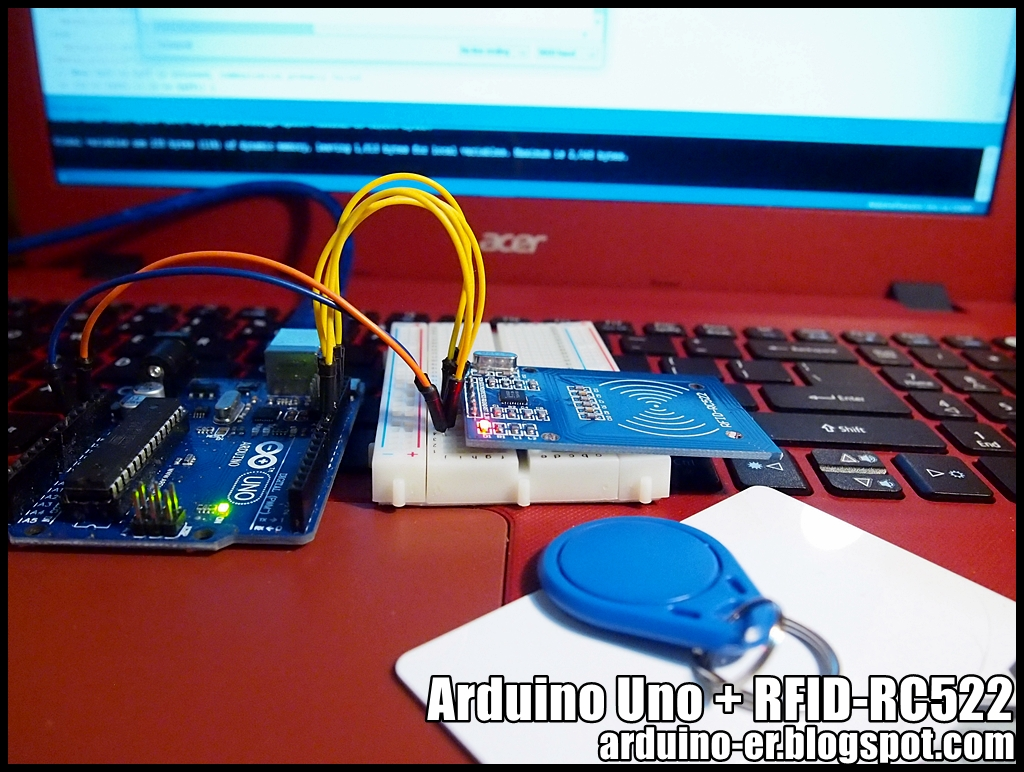 Arduino-er: Arduino Uno + RFID-RC522, MFRC522 library example DumpInfo