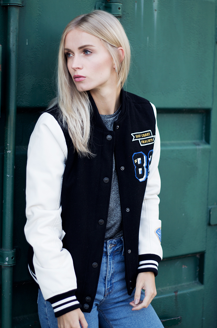 Fashion Attacks outfit ootd college jacket trend The Sting