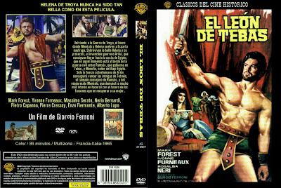 Carátula dvd: El león de Tebas (1964) Il leone de Tebe