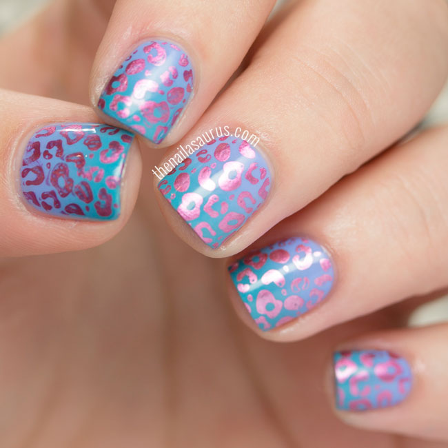Animal Nail Art: 31DC2015: Psychedelic Animal Print - The Nailasaurus
