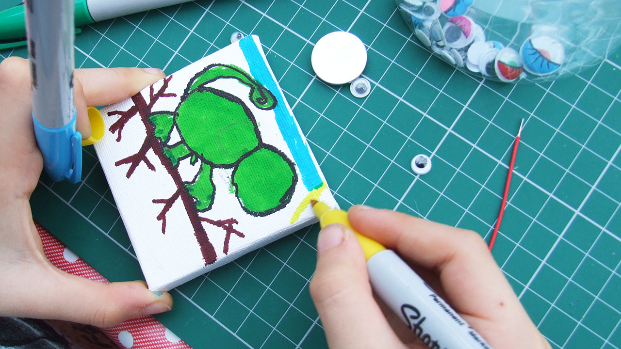 Simple Circuit Canvas Creature Project For Kids How To Make It