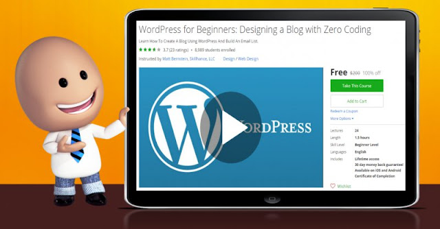 [100% Off] WordPress for Beginners: Designing a Blog with Zero Coding| Worth 200$