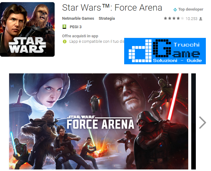 Trucchi  Star Wars™: Force Arena Mod Apk Android v1.3.19