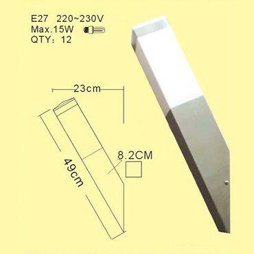 Bật mí giá đèn ốp tường inox được ưa thích nhất trong thời gian gần đây