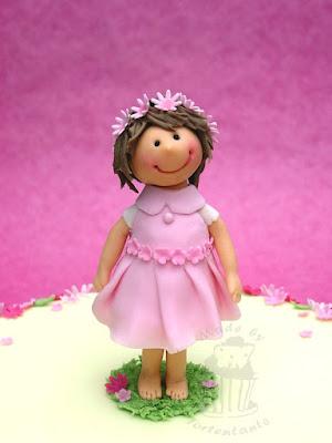 Tortenfigur Mädchen aus Fondant