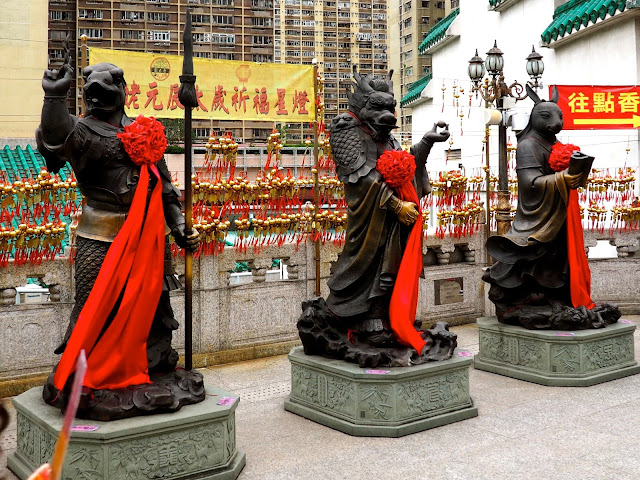 Statues of Chinese zodiac animal signs at Sik Sik Yuen Wong Tai Sin Temple, Hong Kong
