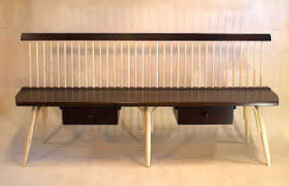 Mid Century Modern Bench, windsor bench