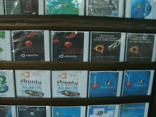 software CDs in downtown