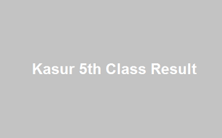 Kasur 5th Class Result 2019 - BISE PEC Kasur Board 5th Results