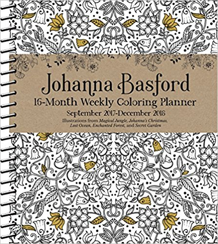 Calendar Offers An Opportunity For Calm Reflection While Coloring Image From One Of Johanna Basfords Five Amazing Books Magical