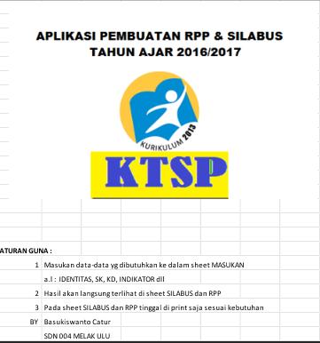 Aplikasi Pembuatan Silabus / RPP SD KTSP Dan K13