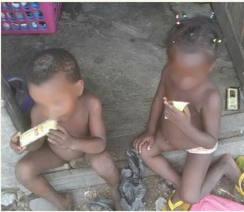 See What Two Little Kids Were Nabbed Doing in Lagos (Photo)