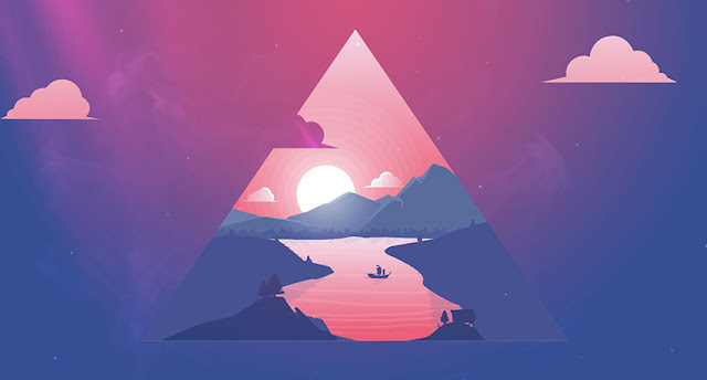 Minimal Mystic Lake Wallpaper Engine