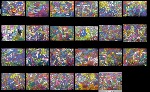 Experiments In Art Education Abstract Chalk Drawings