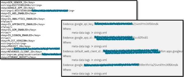 Archivos con API Keys legibles imagen