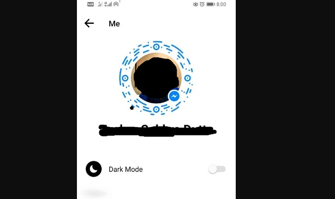 Fitur Dark Mode di Facebook Messenger