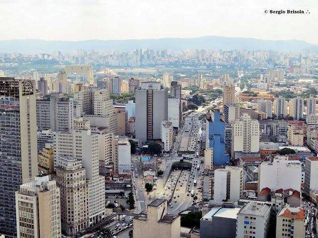 Vista ampla de trecho do Centro - Luz - Zona Norte - São Paulo