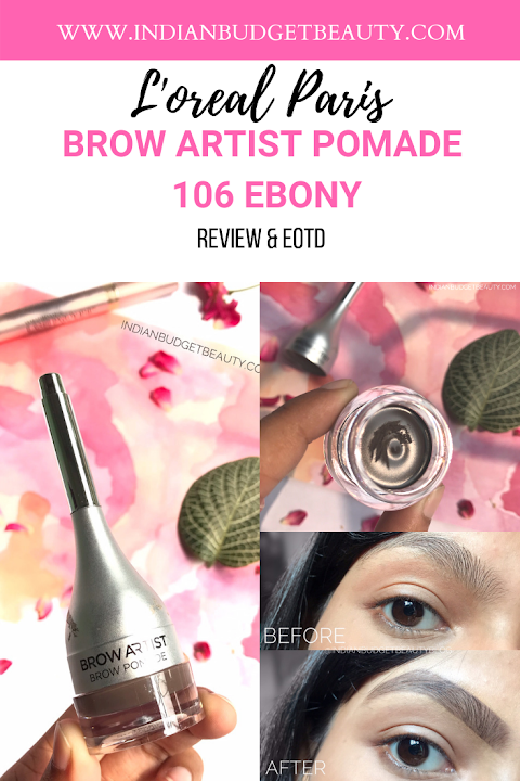 L'oreal Paris Brow Artist Pomade 106 Ebony Review & Swatches