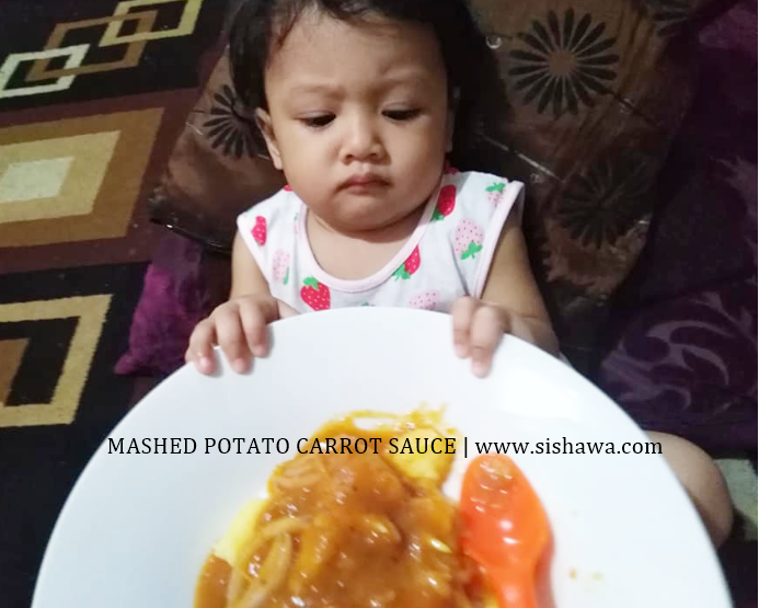 Baby Food Recipe Mashed Potato With Carrot Sauce